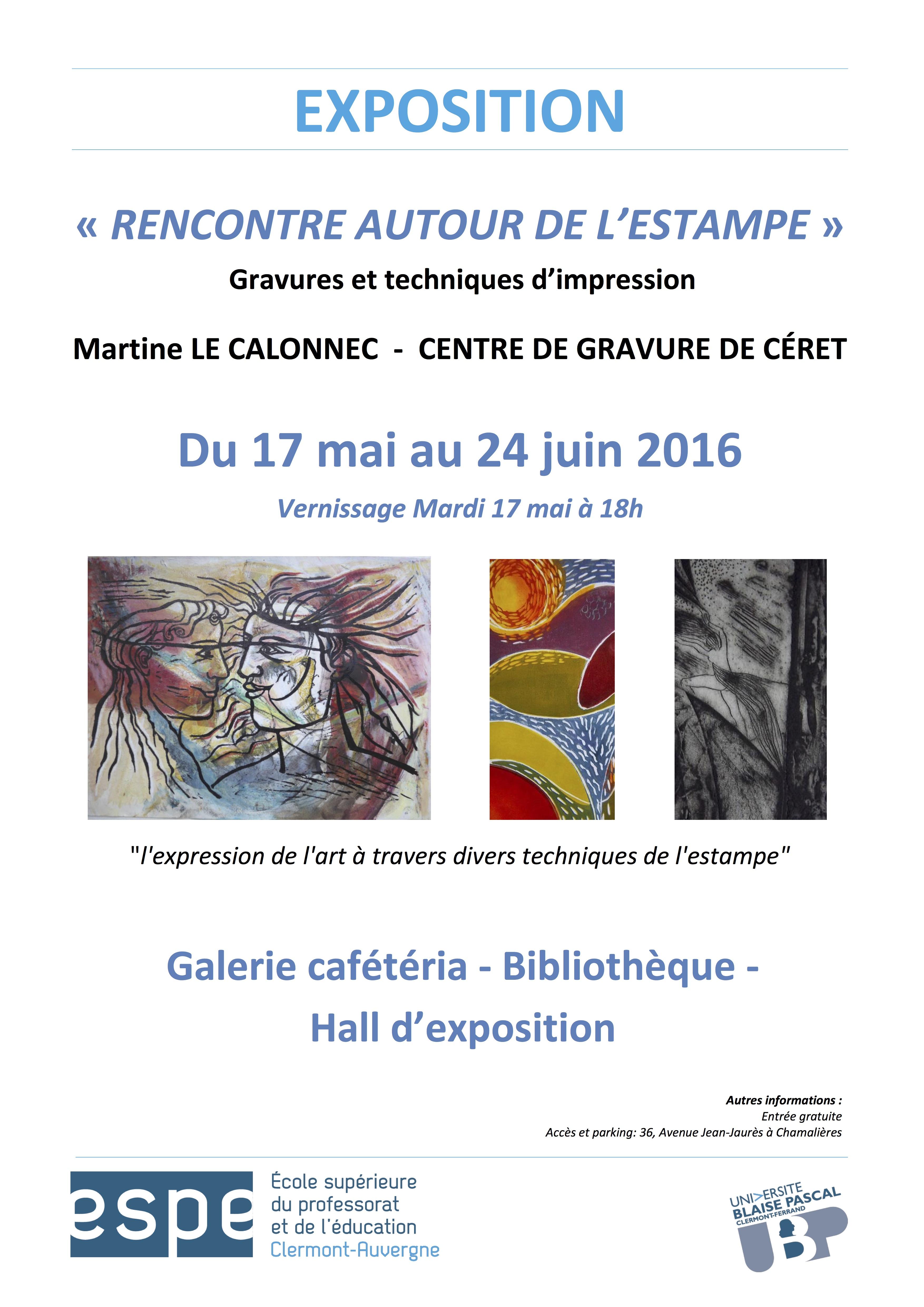 Affiche expo Centre Graphique de Céret